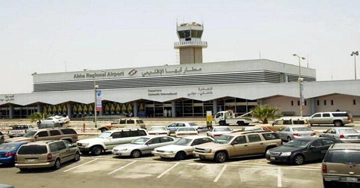 حملات ائتلاف سعودی به یمن |  عملیات تلافیجویانه  در فرودگاه ابها عربستان سعودی