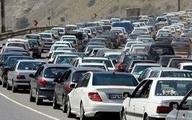 بارش باران در جادههای گلستان، اردبیل و مازندران وترافیک سنگین در جاده چالوس