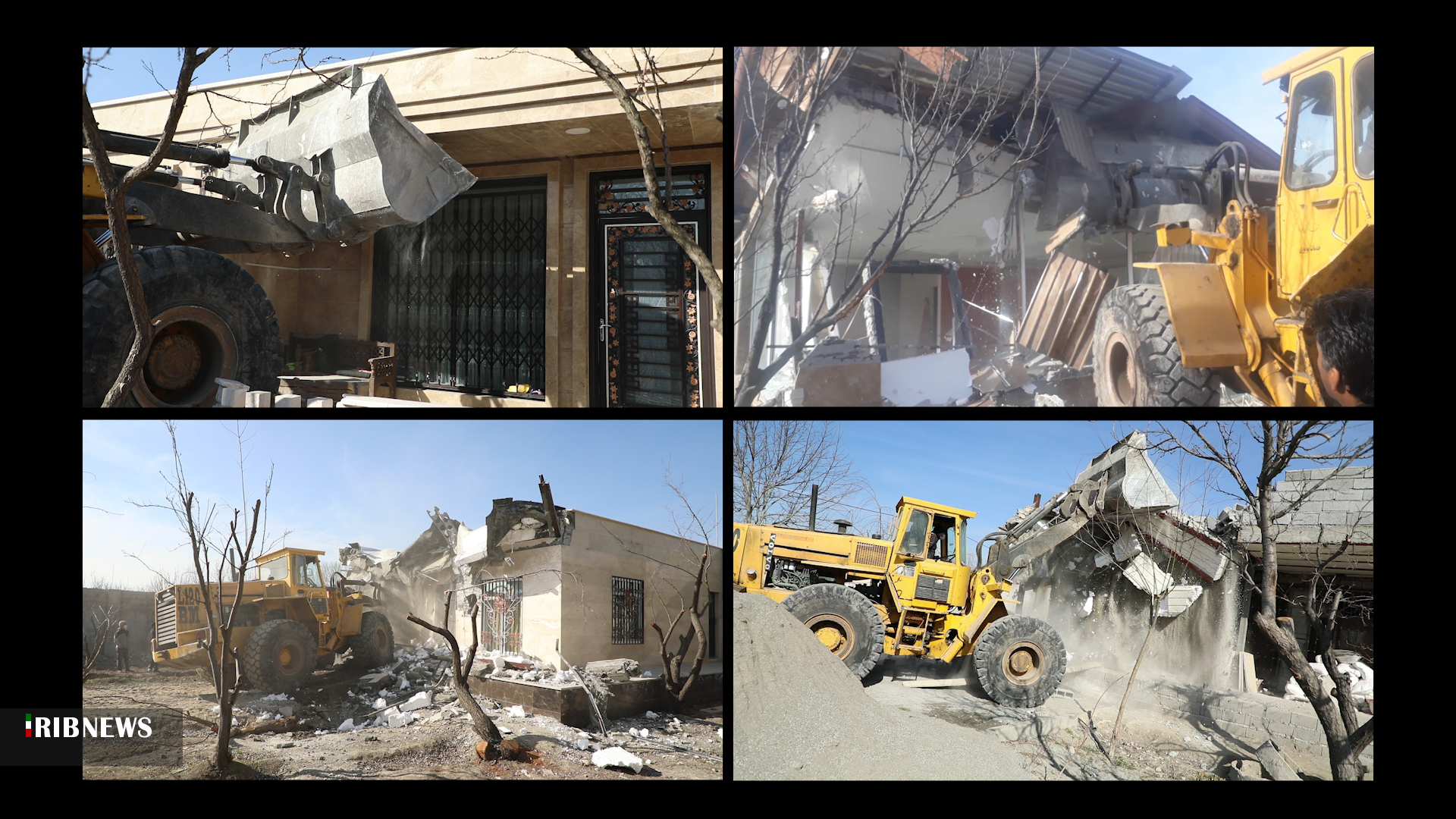 باغ ویلا | 43ویلای میلیاردی در خوشنام ملارد تهران تخریب شد