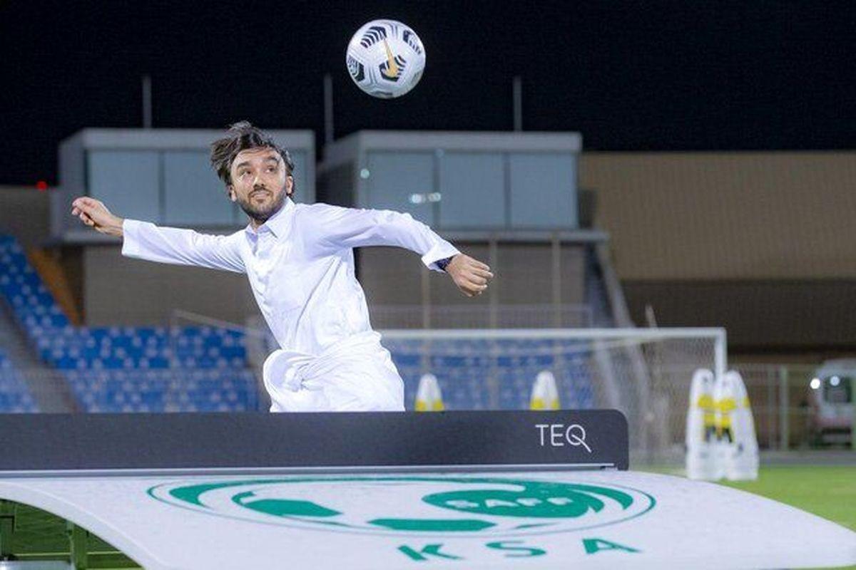 تصویری جالب و متفاوت از وزیر ورزش عربستان