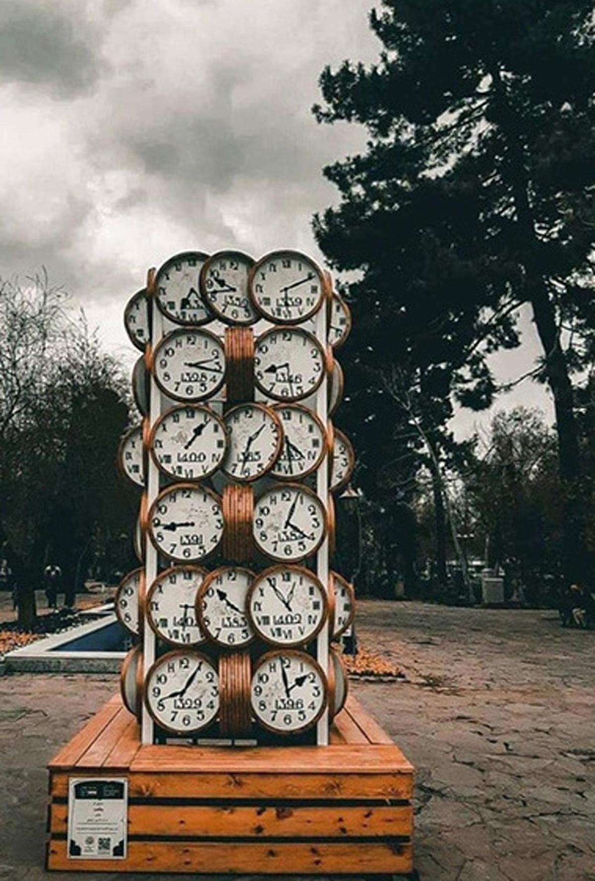 اِلِمان نوروزی ساعت در شهر مشهد| شهرداری مشهد و المان نوروزی ساعت+عکس