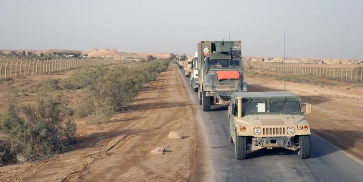 یک کاروان آمریکا در عراق هدف حمله قرار گرفت