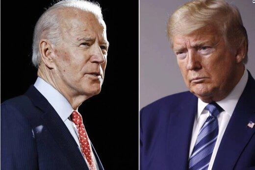 تازهترین نظرسنجی |   «جو بایدن نُه درصد از «دونالد ترامپ» رئیس جمهور فعلی پیش است.
