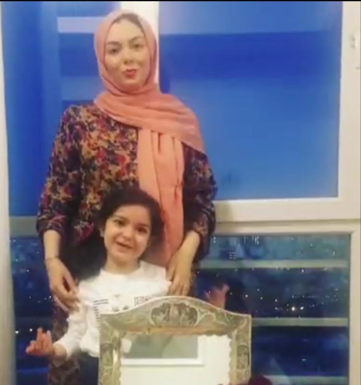 آخرین ویدئویی که آزاده نامداری به همراه دخترش + ویدئو