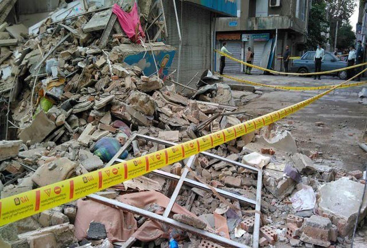 ریزش  ساختمان  |4 نفردر زیر آوار مدفون هستند