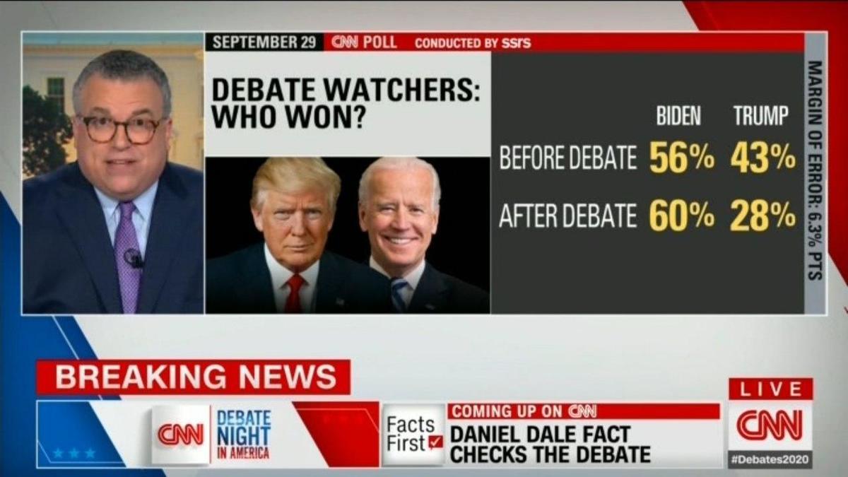 نظرسنجی سیانان درباره برنده اولین مناظره آمریکا