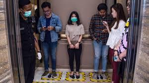 کرونا در داخل آسانسور با درهای بسته  بعد از سرفه فرد مبتلا چگونه است.؟
