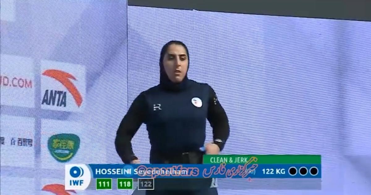 شکسته شدن رکورد وزنهبرداری توسط وزنه بردار زن ایران + ویدئو