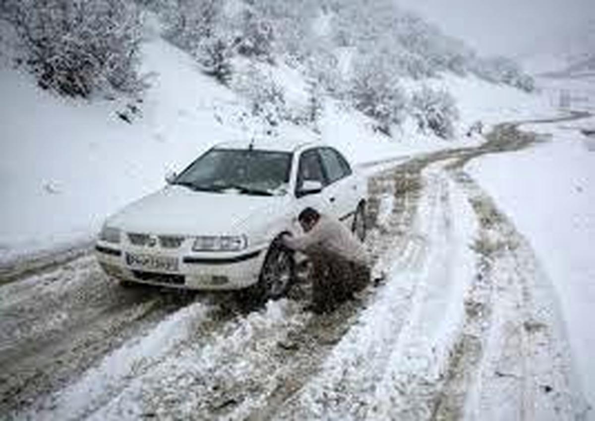 جادههای کوهستانی مازندران لغزنده است