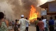15 کشته، ۵۶۰ مجروح در آتش سوزی اردوگاه آوارگان روهینگیا در بنگلادش
