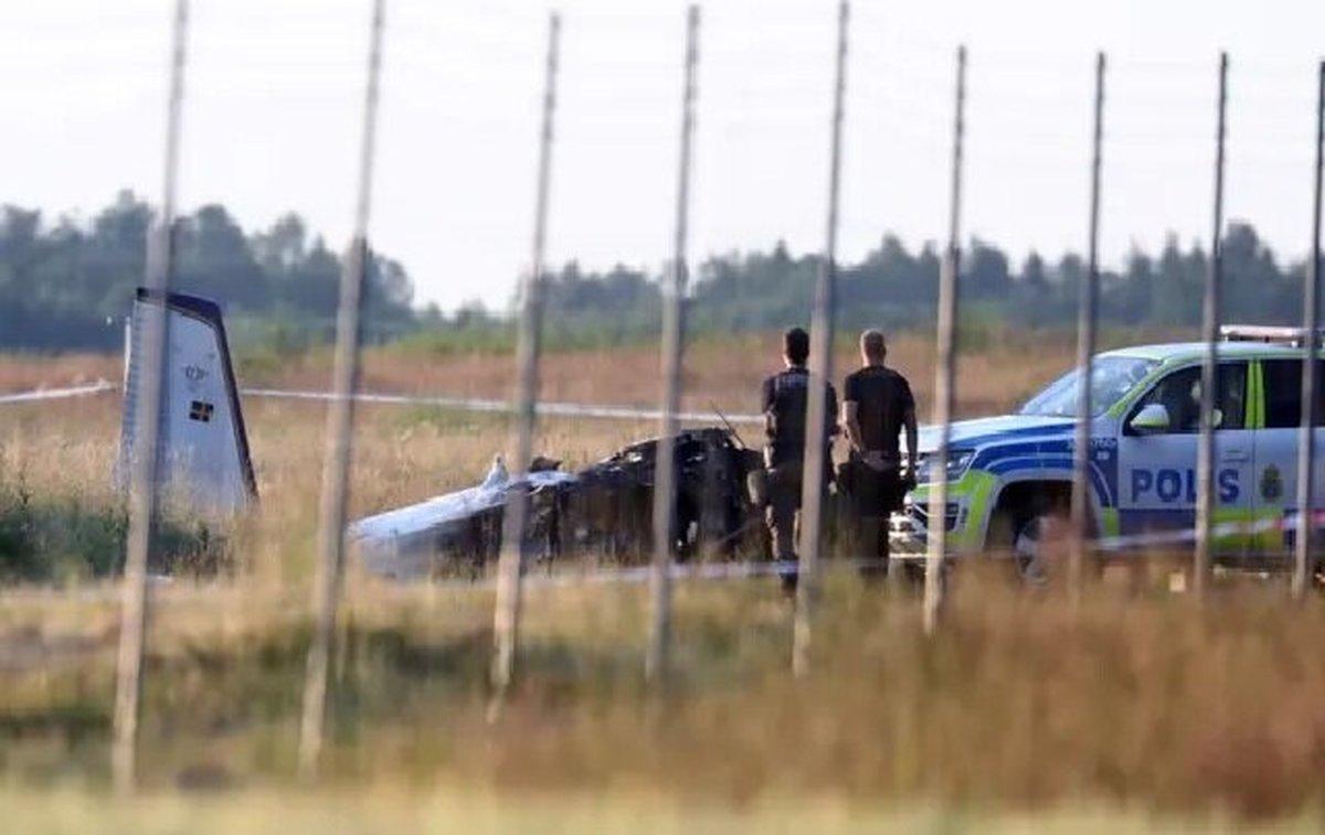 9 کشته در پی سقوط هواپیما در سوئد