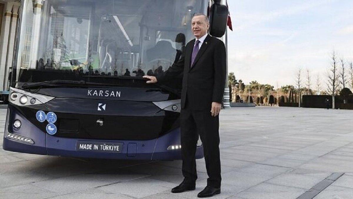 شرکتهای تُرک | اردوغان با اتوبوس الکتریکی به جلسه هیئت دولت رفت