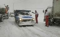 جادههای ۲۱ استان، زیر برف و باران