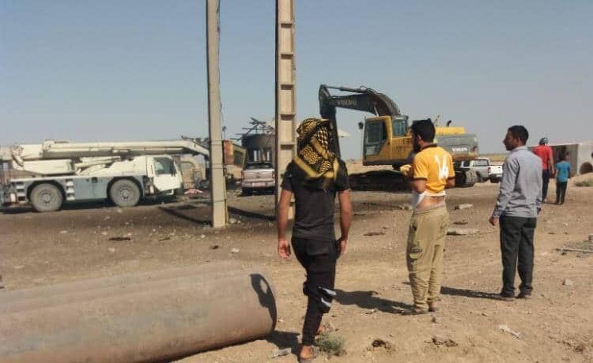 انفجار خط لوله نفت و گاز در شوش سه کشته و چهار زخمی بر جا گذاشت