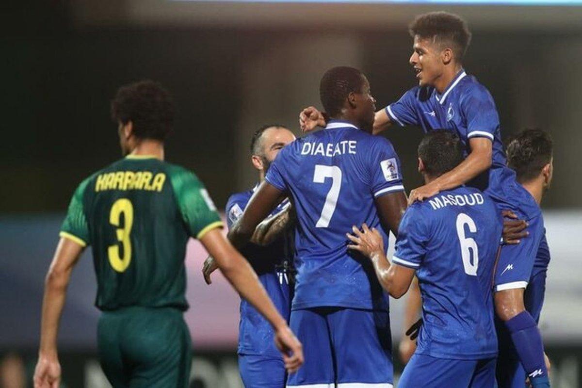 پیروزی استقلال مقابل الشرطه عراق در پایان نیمه اول
