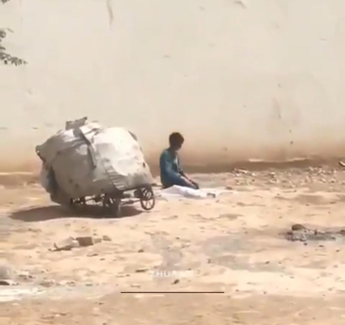 نماز کودک کار + ویدئو