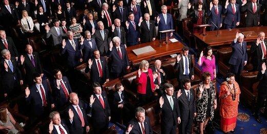 ۵۶ نماینده کنگره برای تحریم تمام بخشهای نظام مالی ایران به ترامپ نامه دادند