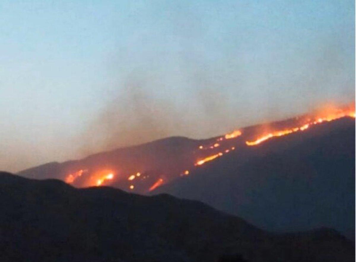 آتش به منطقه حفاظت شده خائیزرسید