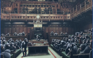 تابلوی نقاشی نقاش گمنام جنجالی از مجلس عوام انگلیس در اعتراض به برگزیت