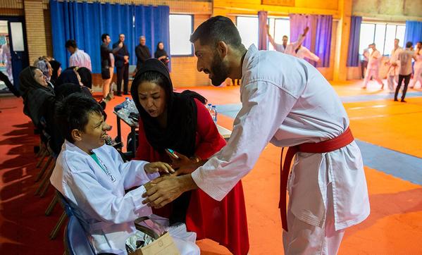 کودکان اوتیسم در اردوی تیم ملی کاراته