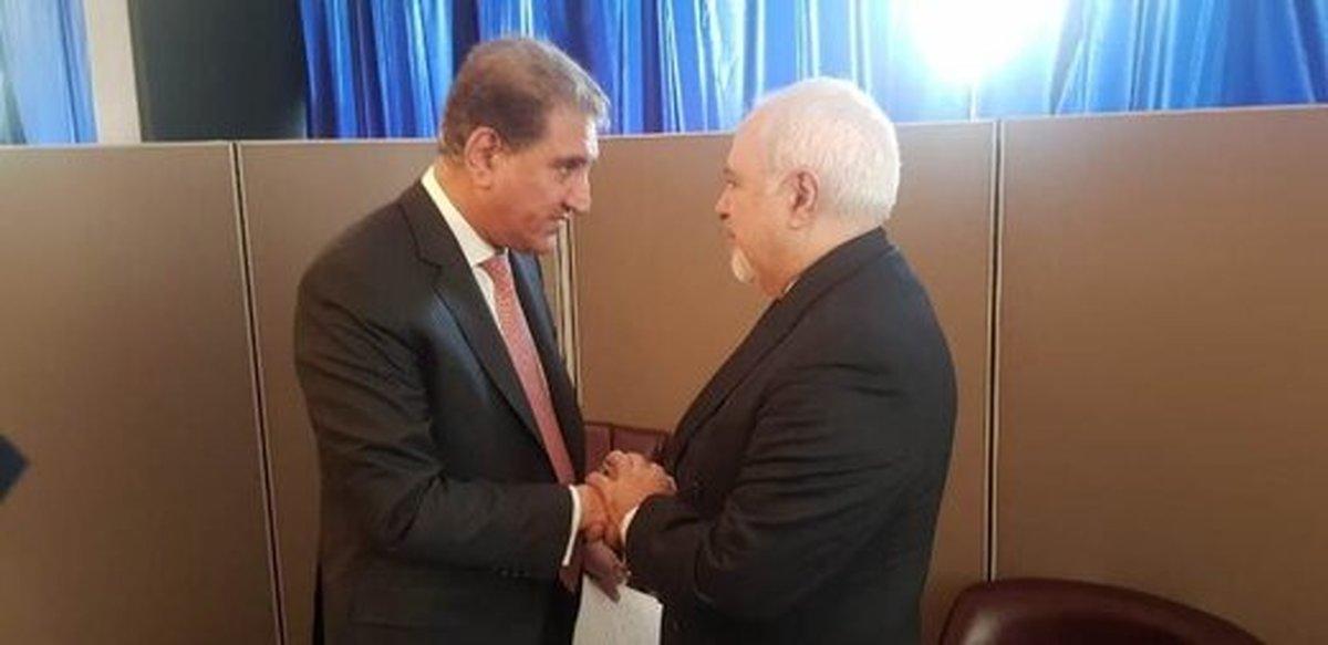 وزیر امورخارجه پاکستان با ظریف دیدار کرد