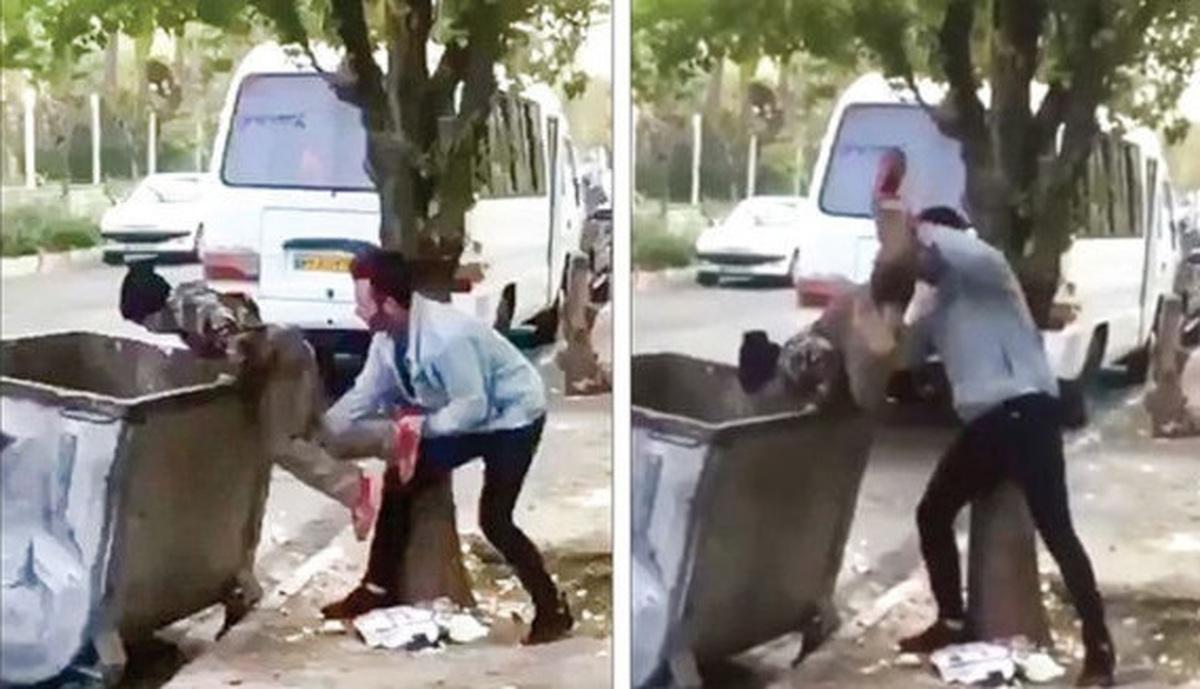چه کسی به آن جوان یاد داد کودک کار را داخل سطل زباله بیندازد؟