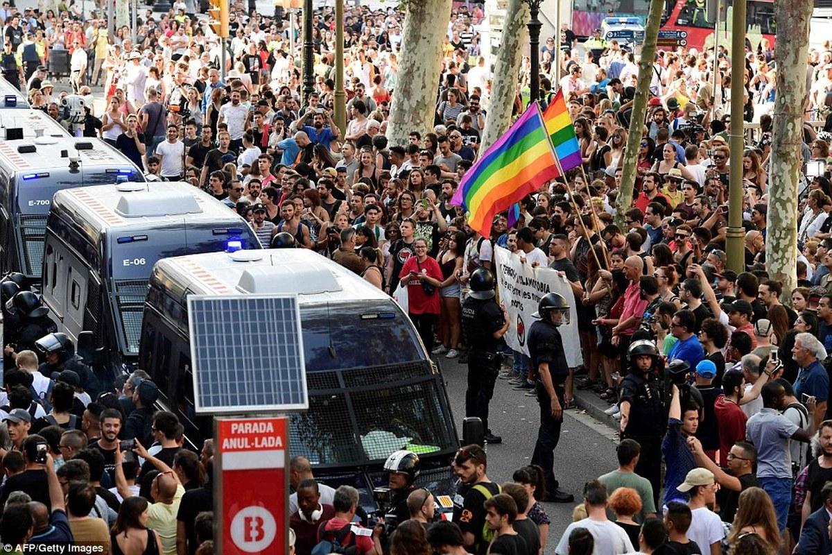 تظاهرات خشونت آمیز در بارسلون