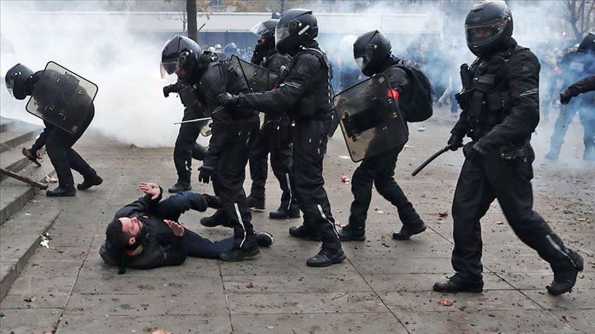 فیلمبرداری از خشونت پلیس فرانسه ممنوع