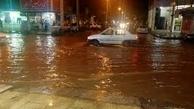 در کمتر از ۱۲ ساعت بارش ادامه سریال آبگرفتگی خیابانها و منازل اهواز