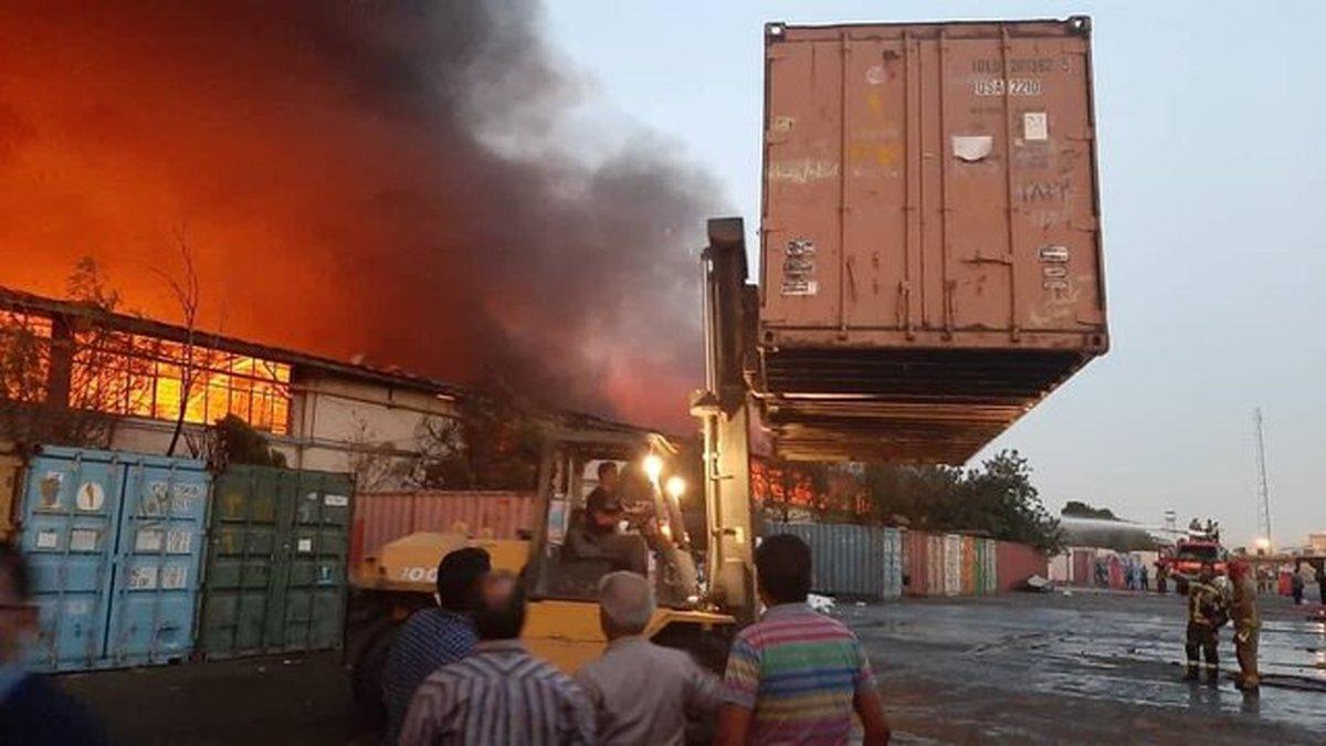 جزئیاتی از آتشسوزی انبارهای سازمان اموال تملیکی