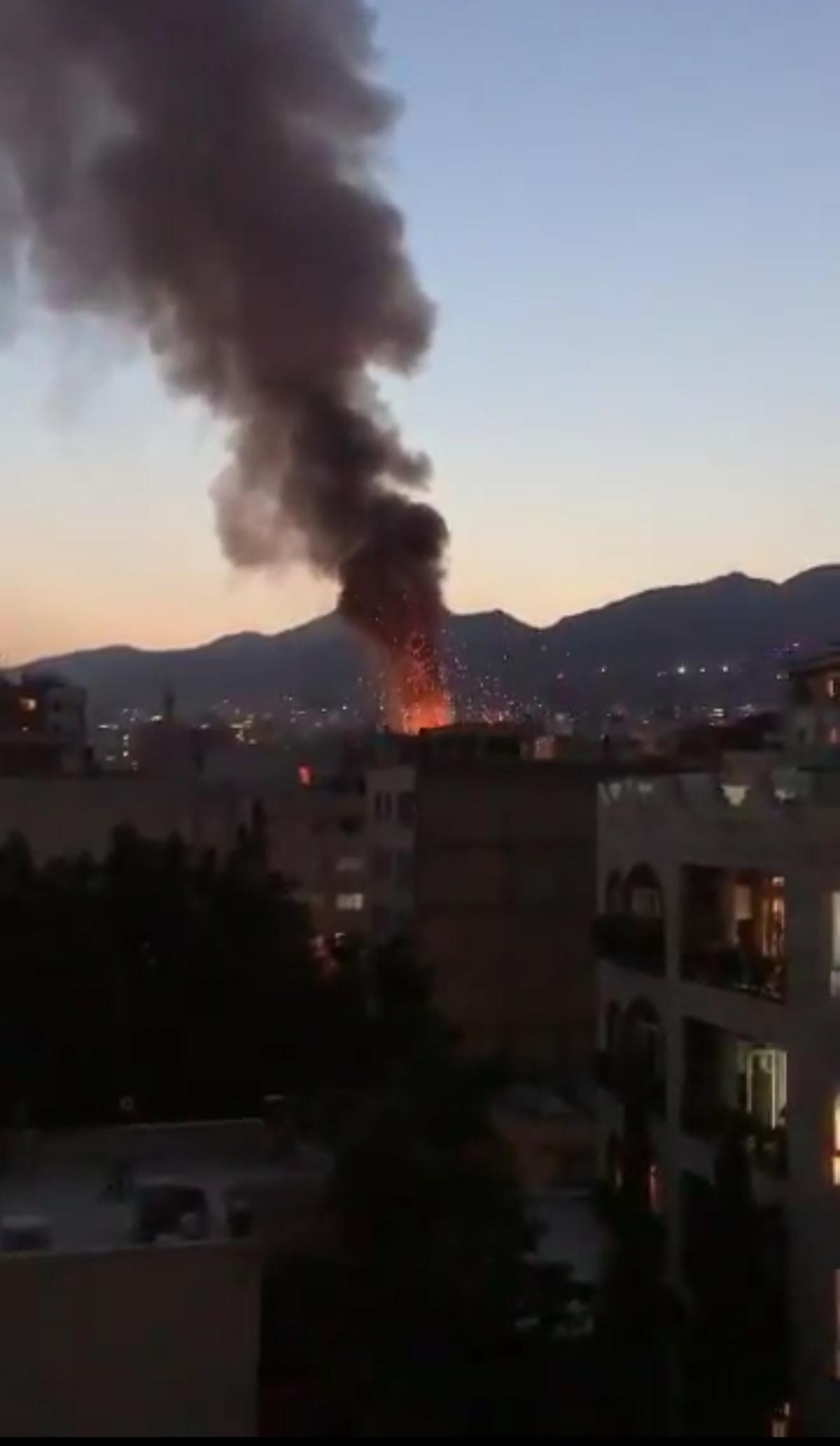 شنیده شدن صدای انفجار در شمال تهران + ویدئو