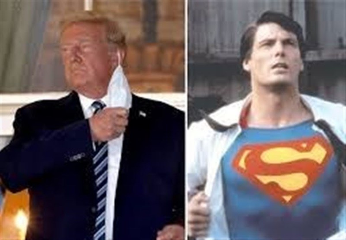 سوپر من    ترامپ میخواست پس از ترخیص طرفداران خود را غافلگیر کند.