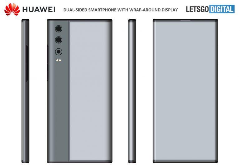 خلاقیت هوآوی با ابداع گوشی با صفحه نمایش دو طرفه