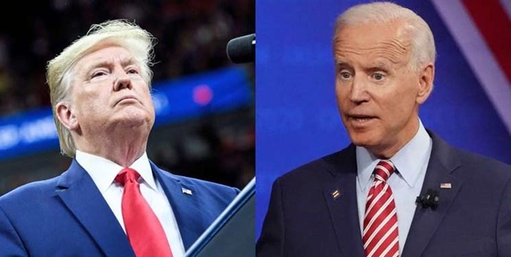 نظرسنجی؛ اختلاف بایدن و ترامپ ۴ درصد شد