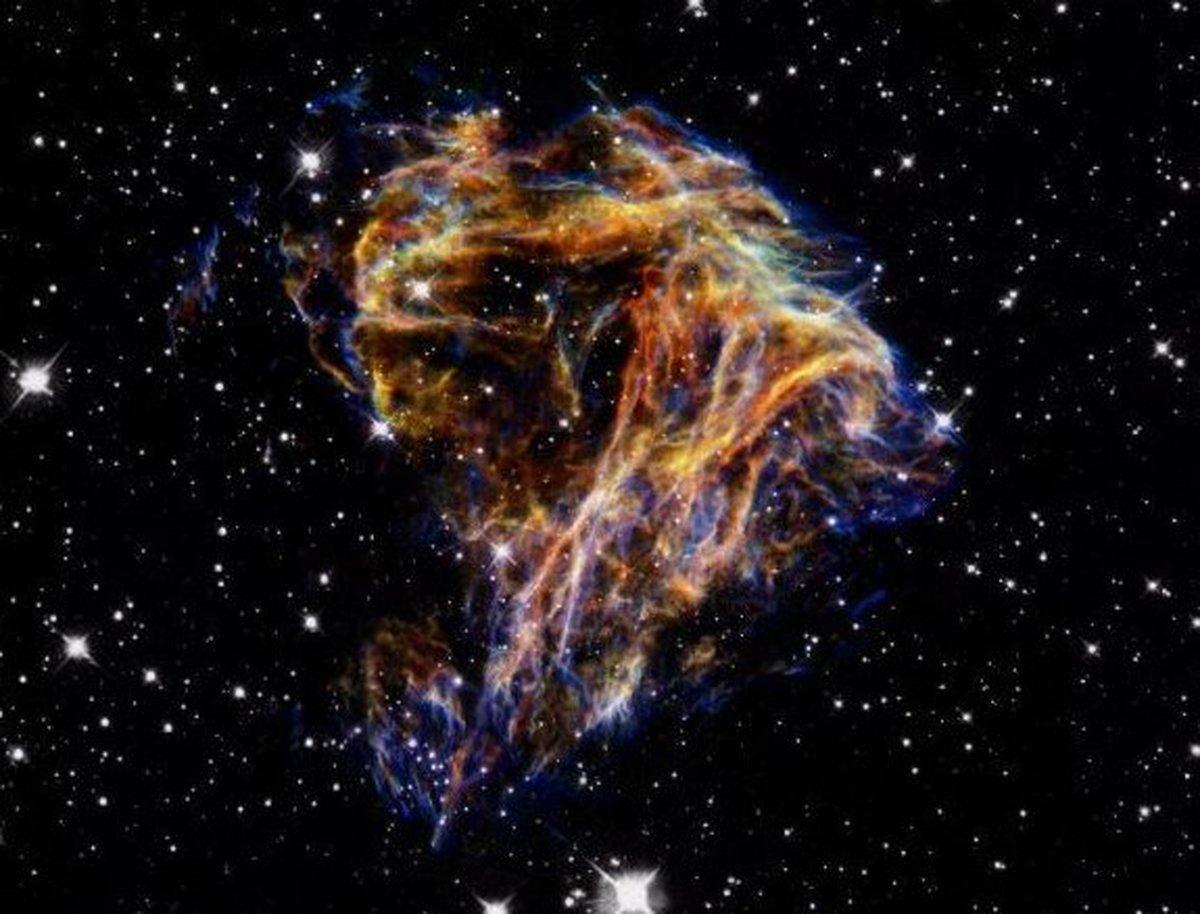 یک آتشبازی بزرگ در کهکشان +تصویر