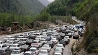در جاده چالوس ترافیک سنگین است
