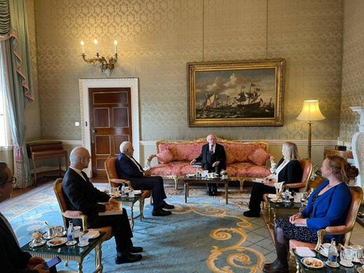 دیدارظریف با رئیس جمهوری ایرلند