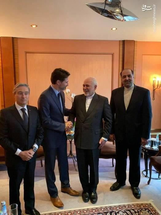 دیدار ظریف و نخستوزیر کانادا در مونیخ