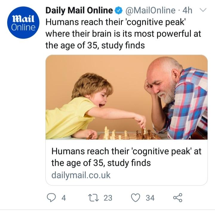 مغز انسان در چه سنی، بیشترین قدرت را دارد؟