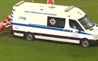 آمبولانسی که وسط مسابقه فوتبال خراب شد + ویدئو