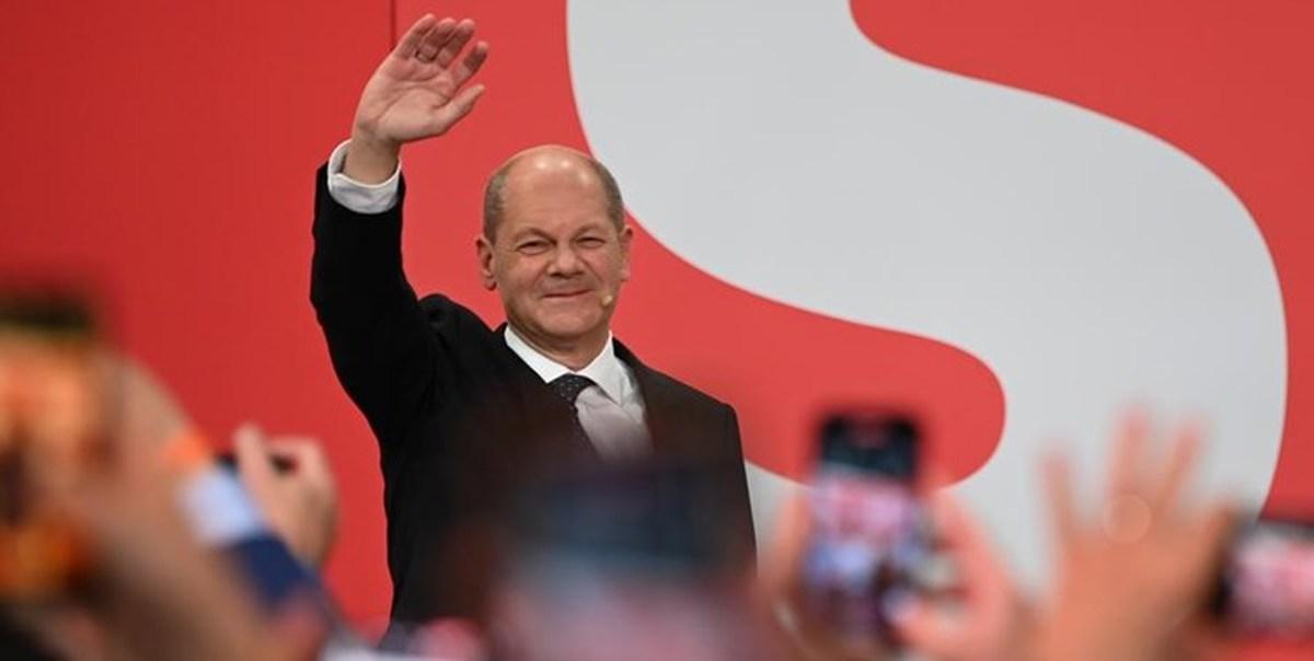 اولاف شولتز اعلام کرد که در انتخابات سراسری فدرال آلمان پیروز شد