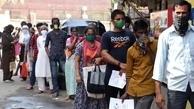 سومین روز ثبت رکورد بالای ابتلا به کرونا در هند