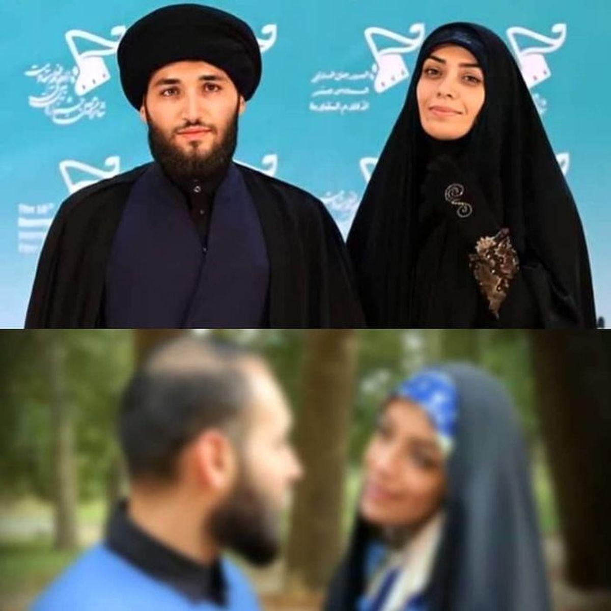 الهام چرخنده و همسر طلبه اش در عراق   الهام چرخنده و همسر سومش