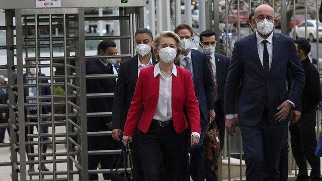 فرانسه: مسئولان ترکیه عمداً برای رئیس کمیسیون اروپا صندلی نگذاشته بودند