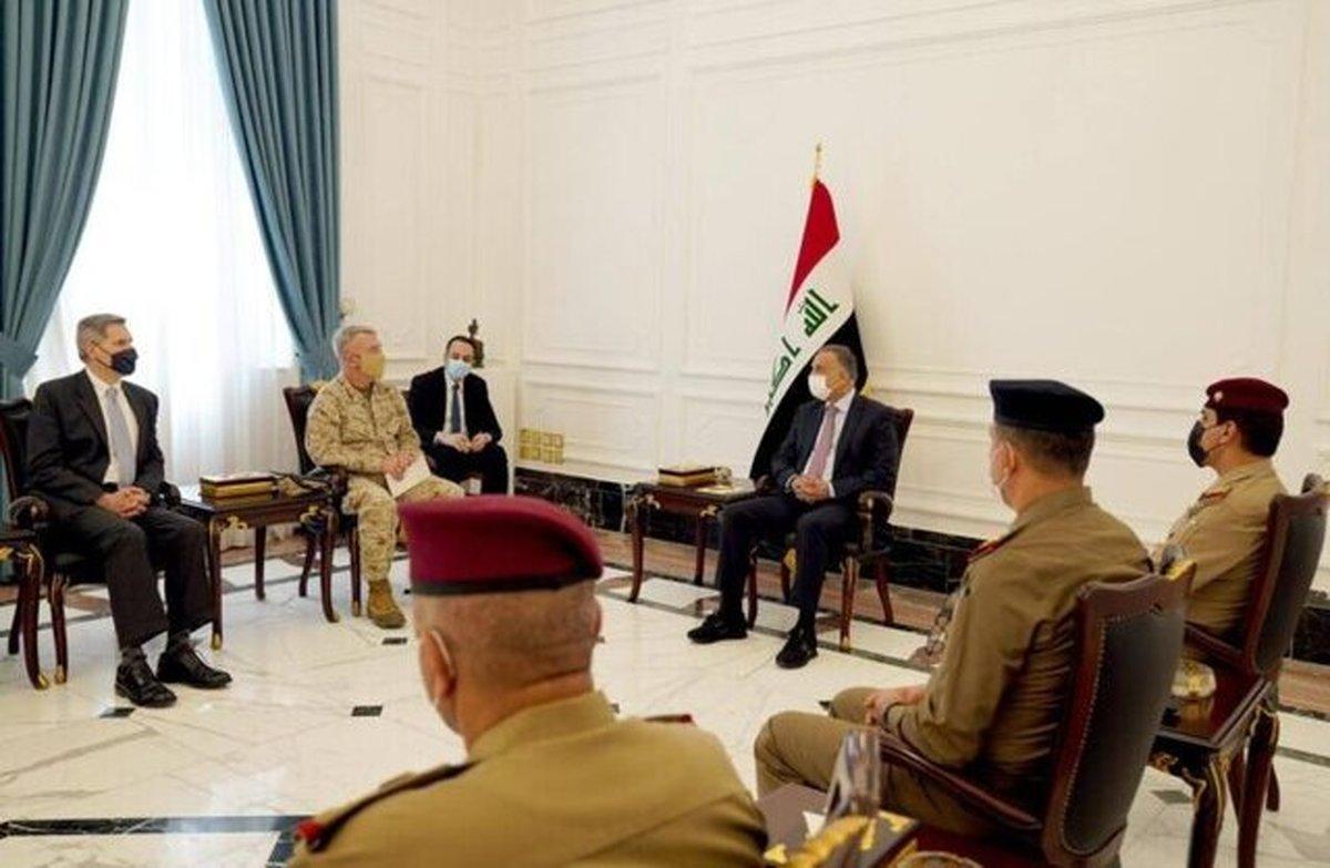 رایزنی الکاظمی و فرمانده سنتکام درباره خروج نظامیان آمریکایی از عراق