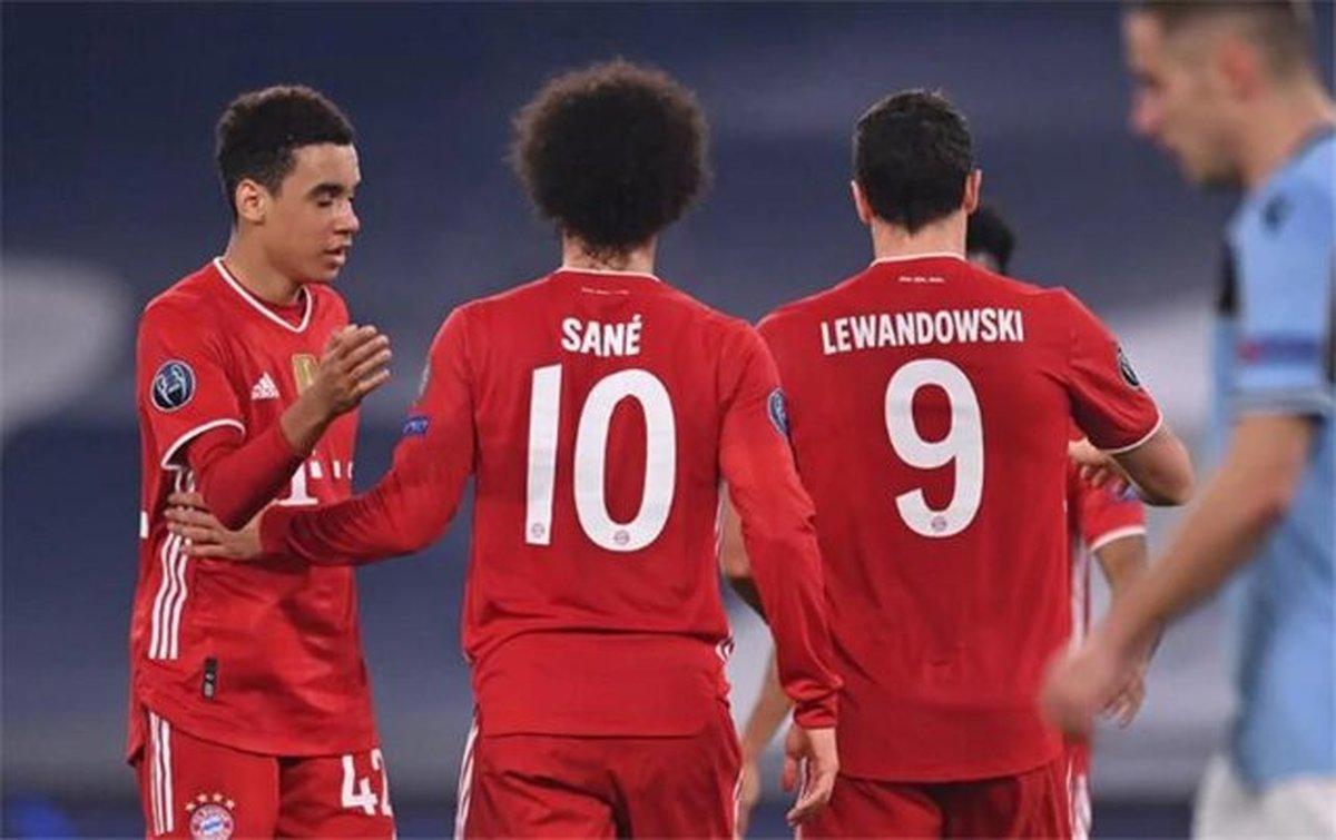 واکنش لواندوفسکی و سانه بعد از پیروزی پر گل برابر لاتزیو