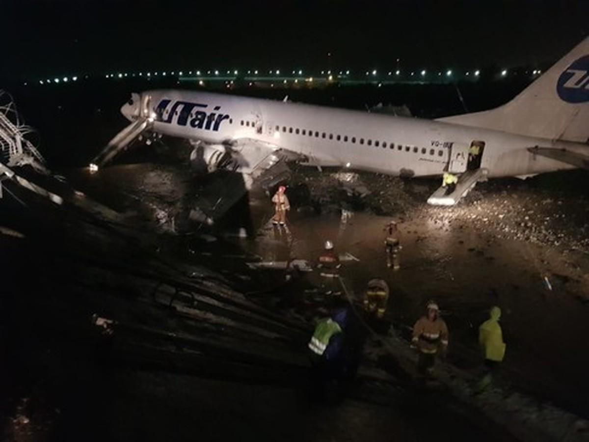 خروج هواپیما از باند فرودگاه در روسیه