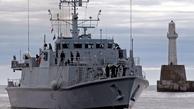 خروج کشتی مین روب انگلیس از خلیج فارس