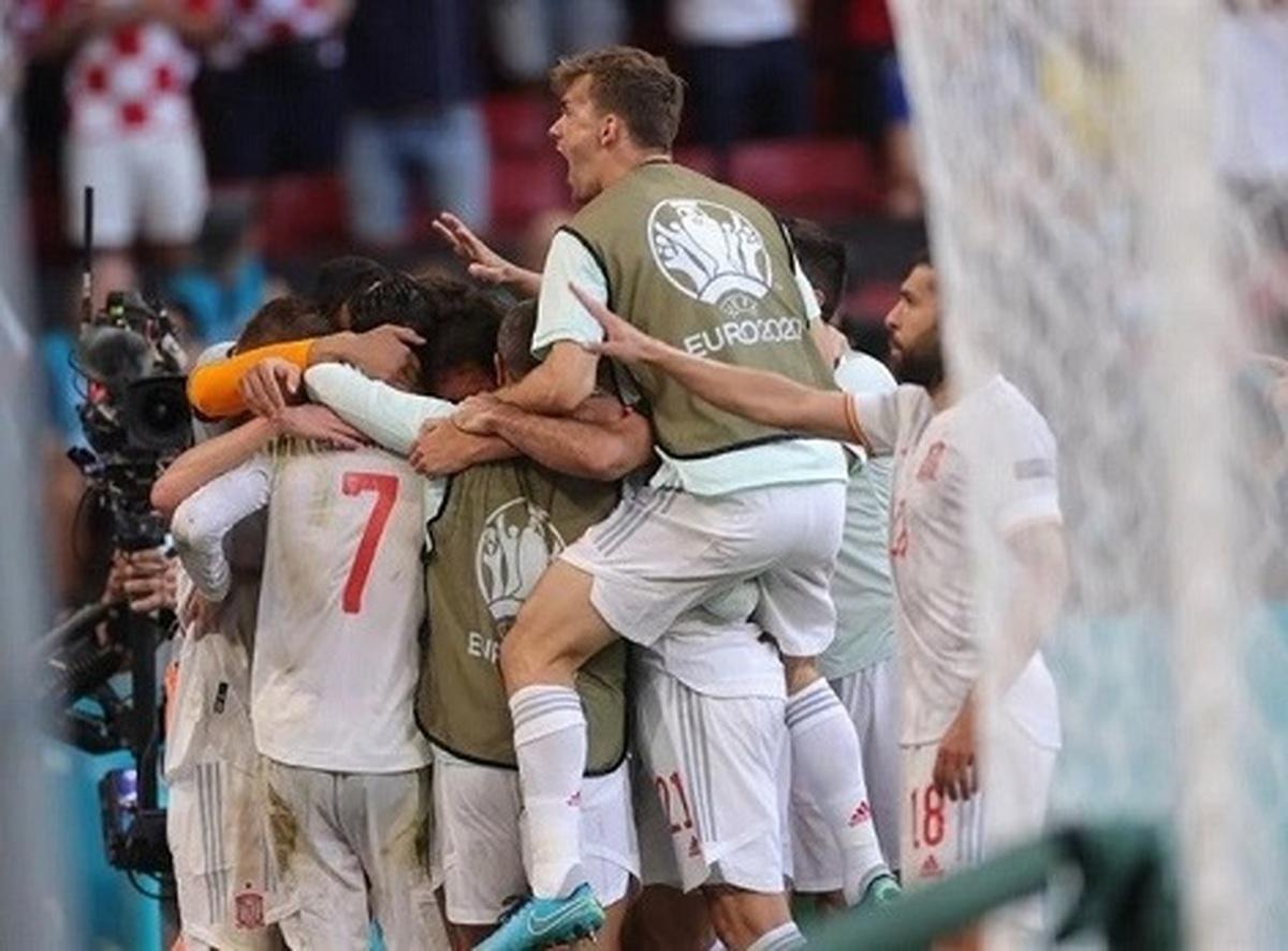 اسپانیا همچنان پیشتاز یورو 2020| صعود اسپانیا با پیروزی 5 بر 3 مقابل کرواسی