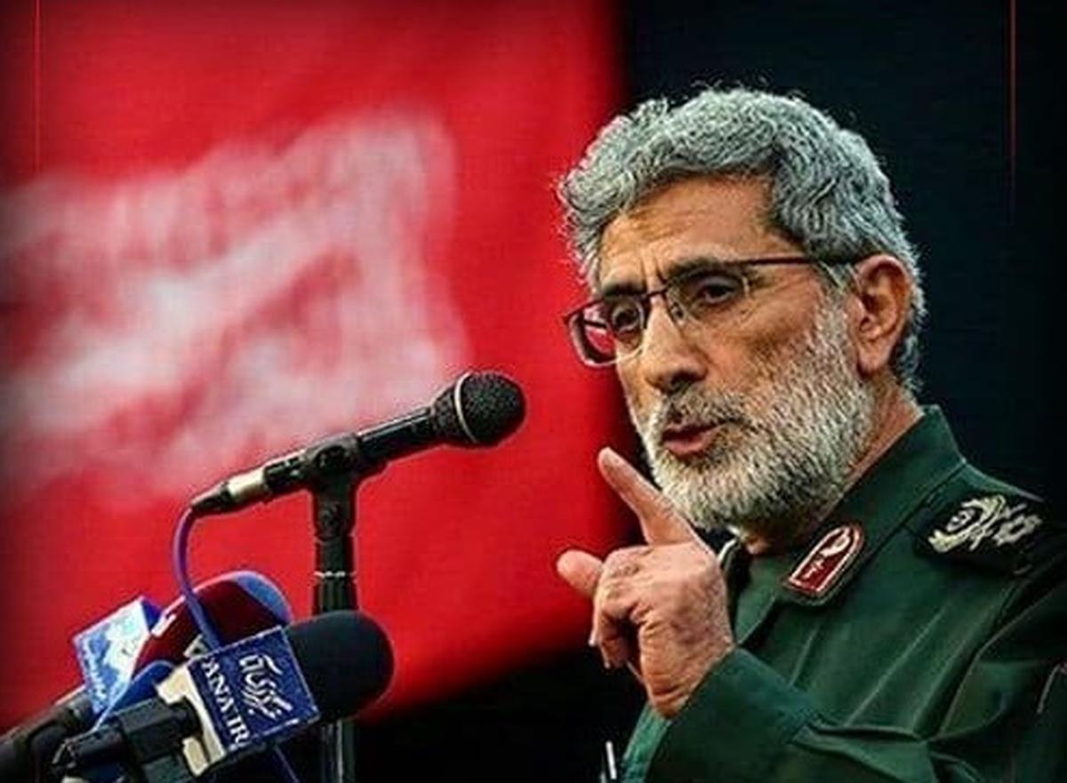 سردار قاآنی: دیوار دور اسرائیل را خراب خواهیم کرد